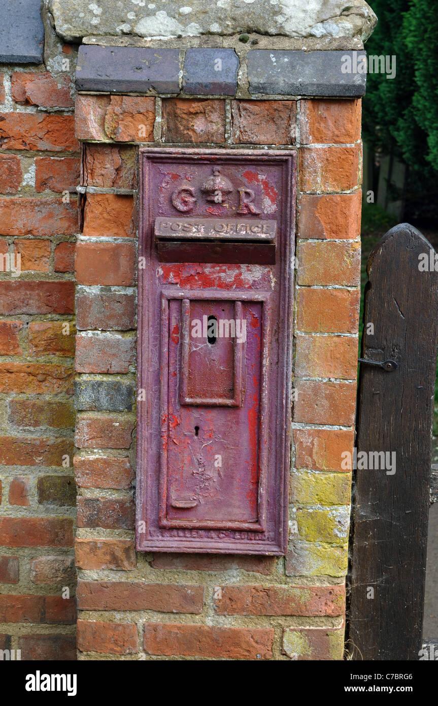 Blocked off post box, Misterton, Leicestershire, England, UK Stock Photo