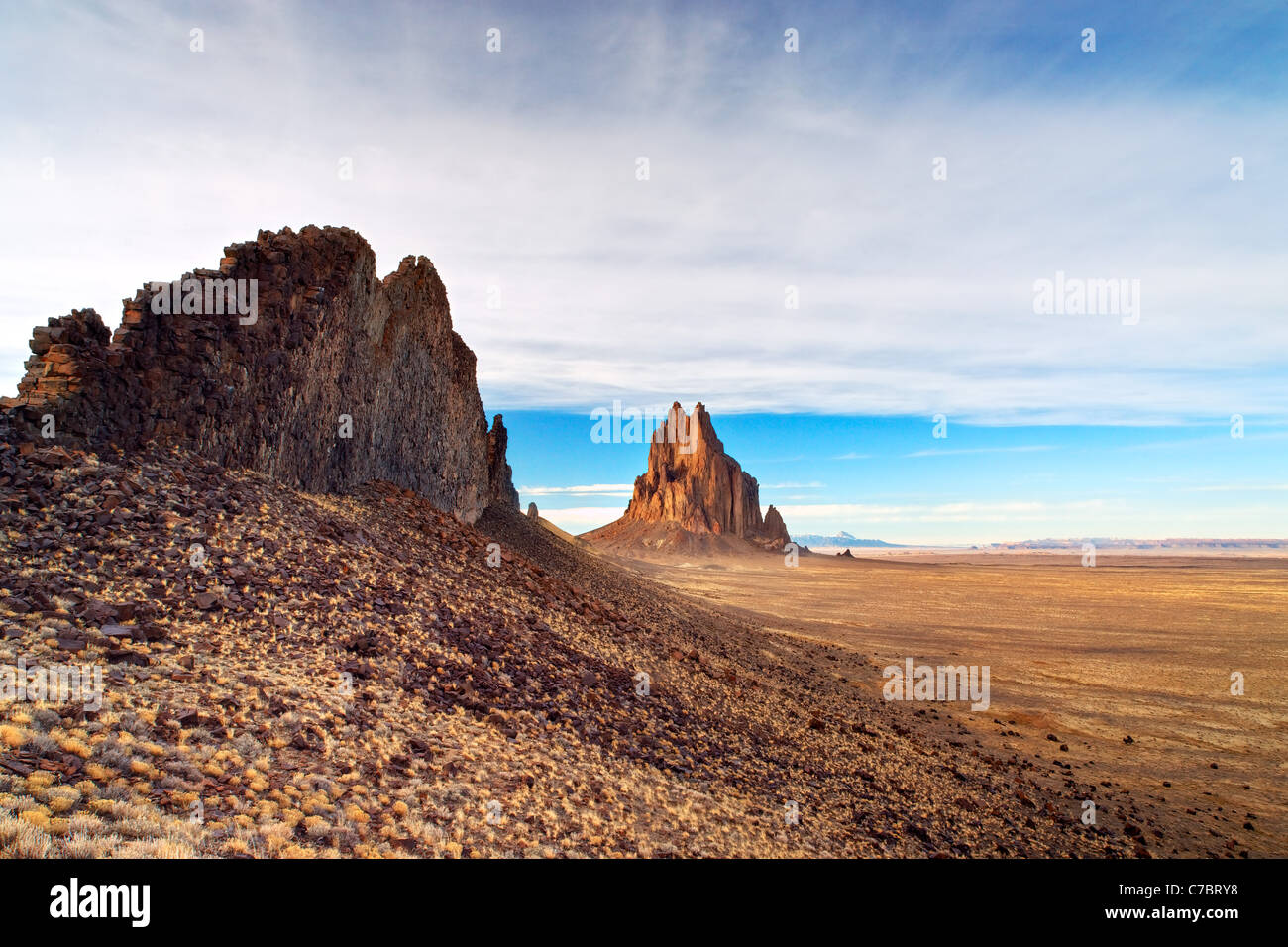 Shiprock Rock, New Mexico, USA - Stock Image
