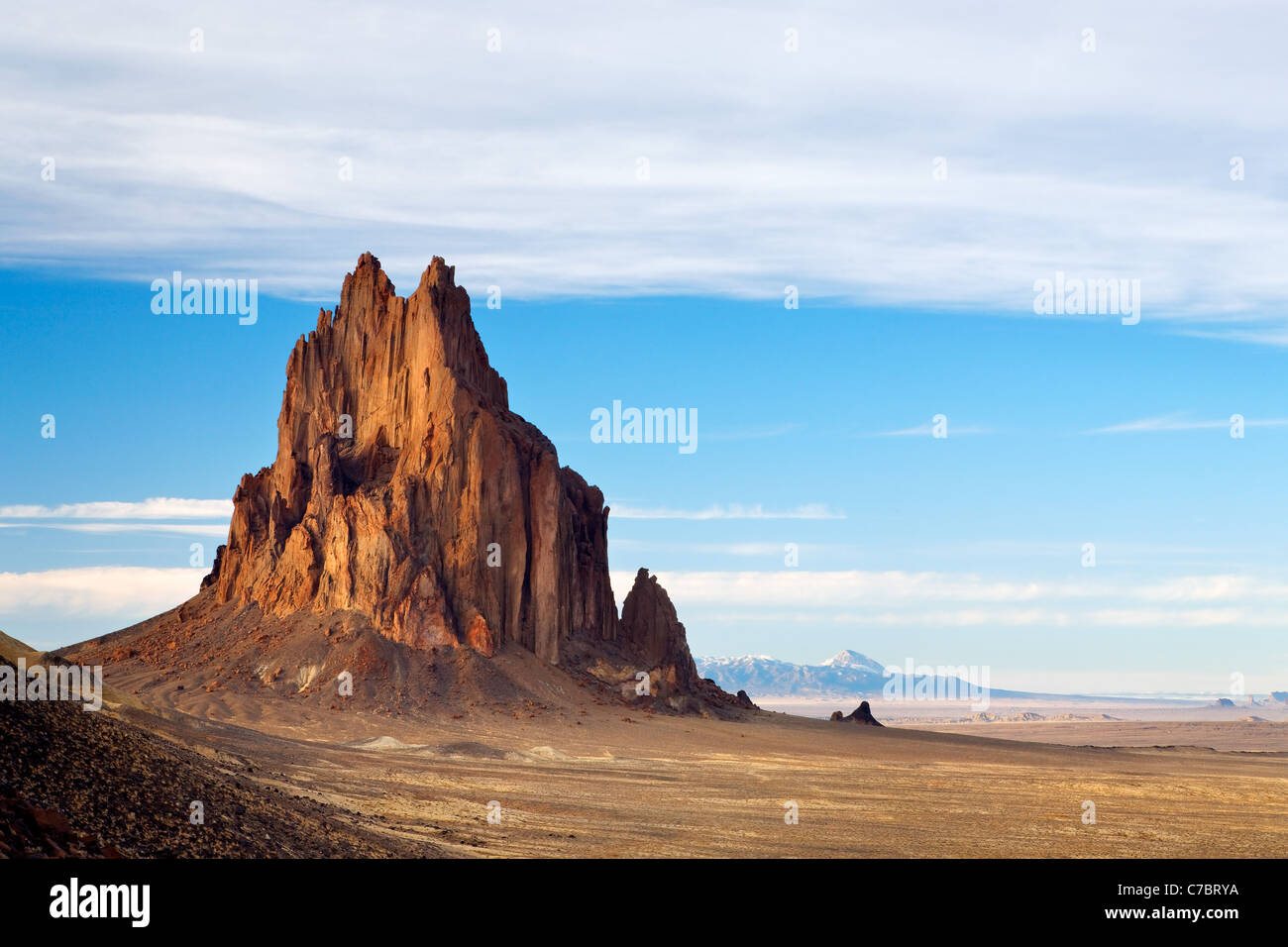 Shiprock Rock, New Mexico, USA Stock Photo