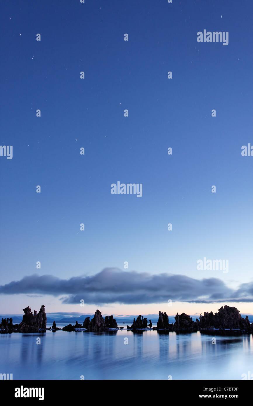 Mono Lake tufta rock formations at sunrise, South Tufta, eastern Sierras, Mono Basin National Forest Scenic Area, - Stock Image