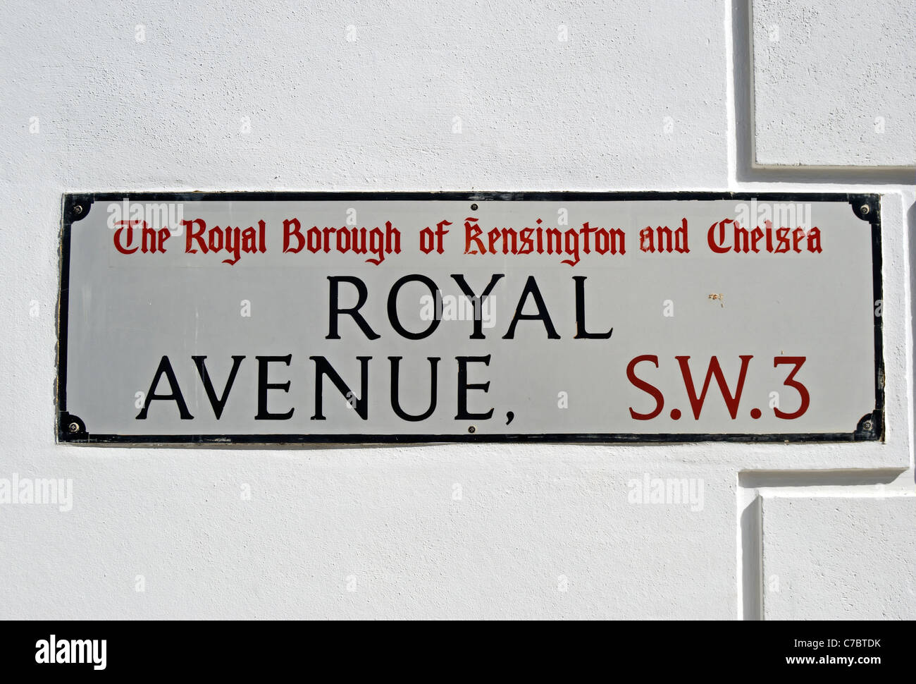 street name sign for royal avenue, chelsea, london, england Stock Photo