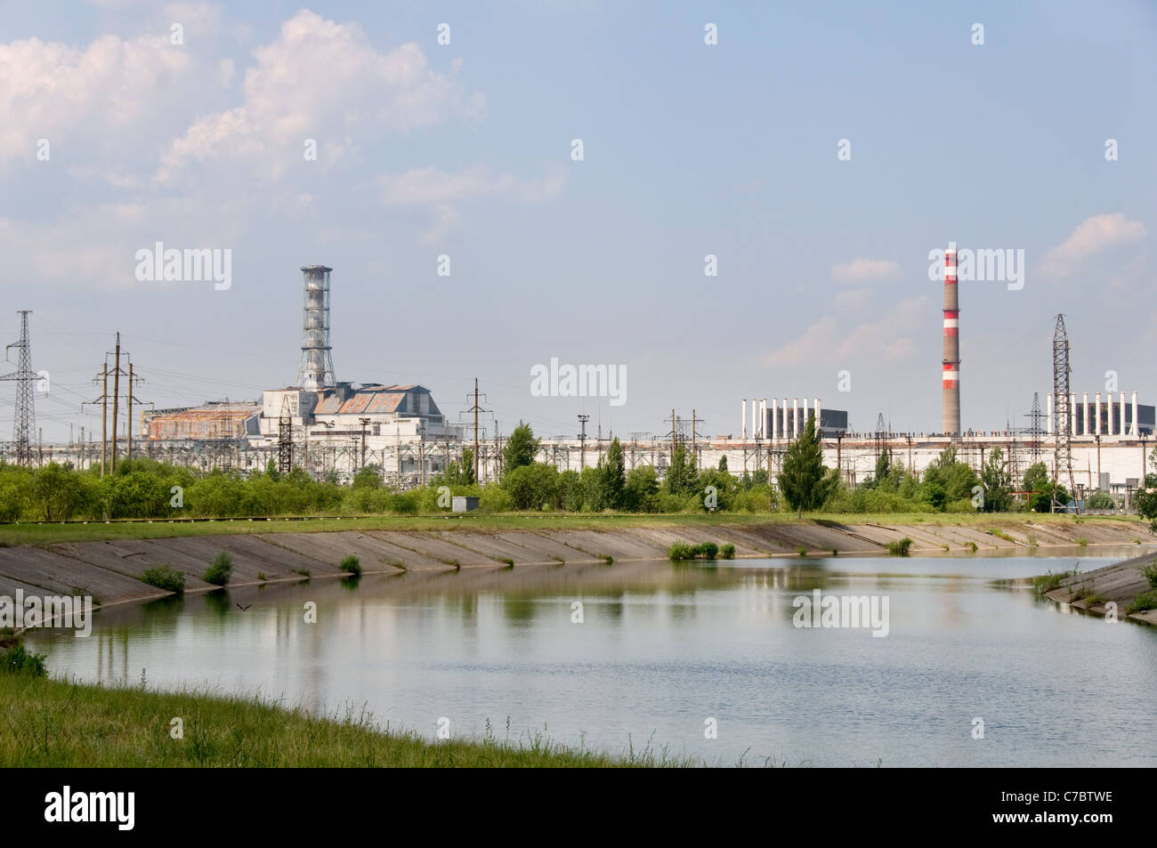 Chernobyl nuclear station in Ukraine - Stock Image