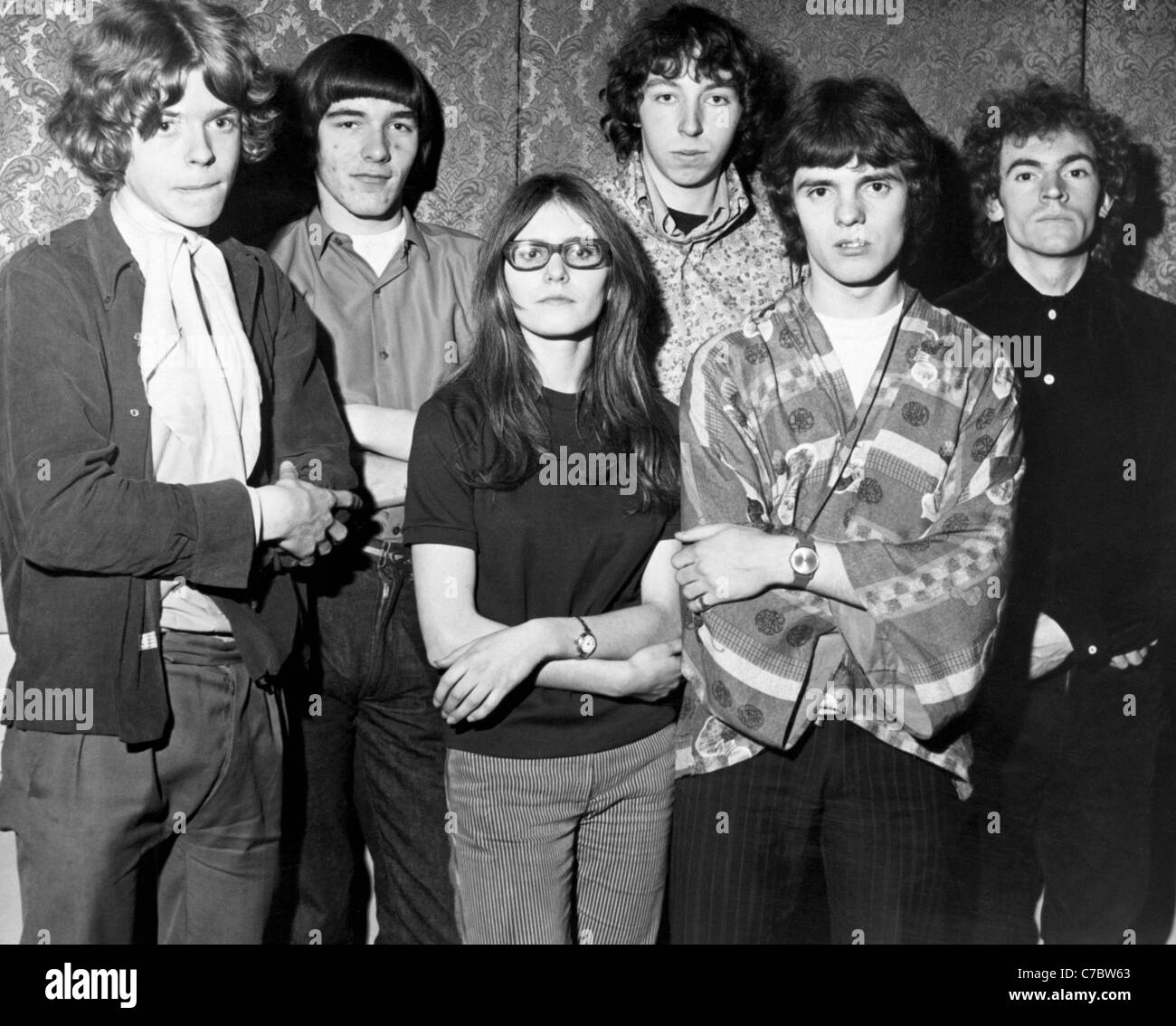FAIRPORT CONVENTION UK folk/rock group in November 1967. See Description below - Stock Image