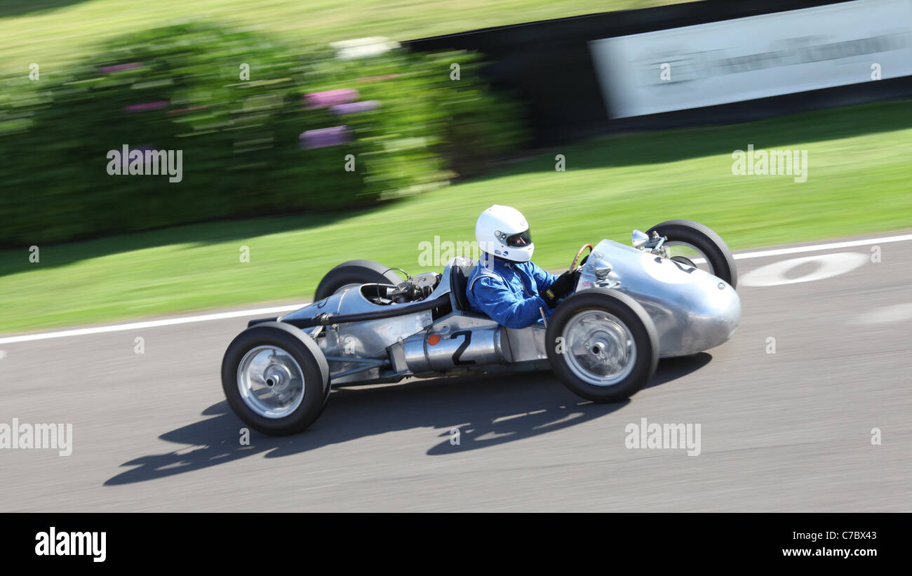 Goodwood Motor Circuit on the first day of the Goodwood Revival Meeting 2011. - Stock Image