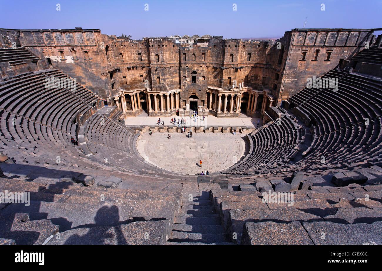 The Roman Theatre at Bosra, Syria - Stock Image