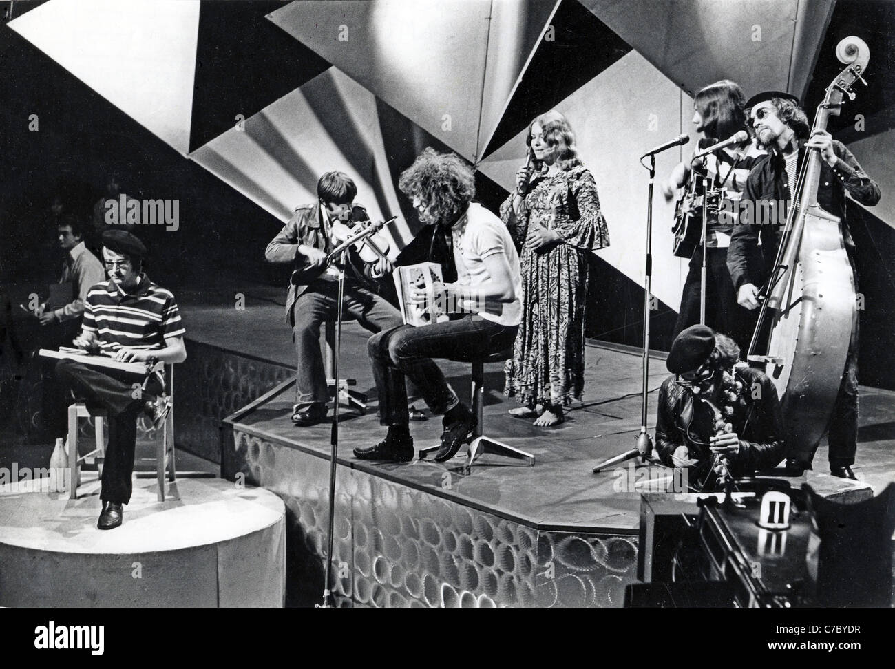 FAIRPORT CONVENTION UK folk rock group in 1968. See Description below. Photo Tony Gale - Stock Image