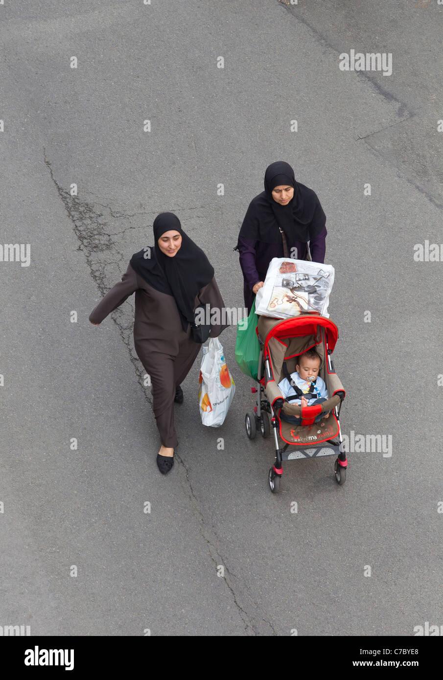 two muslim women - Stock Image