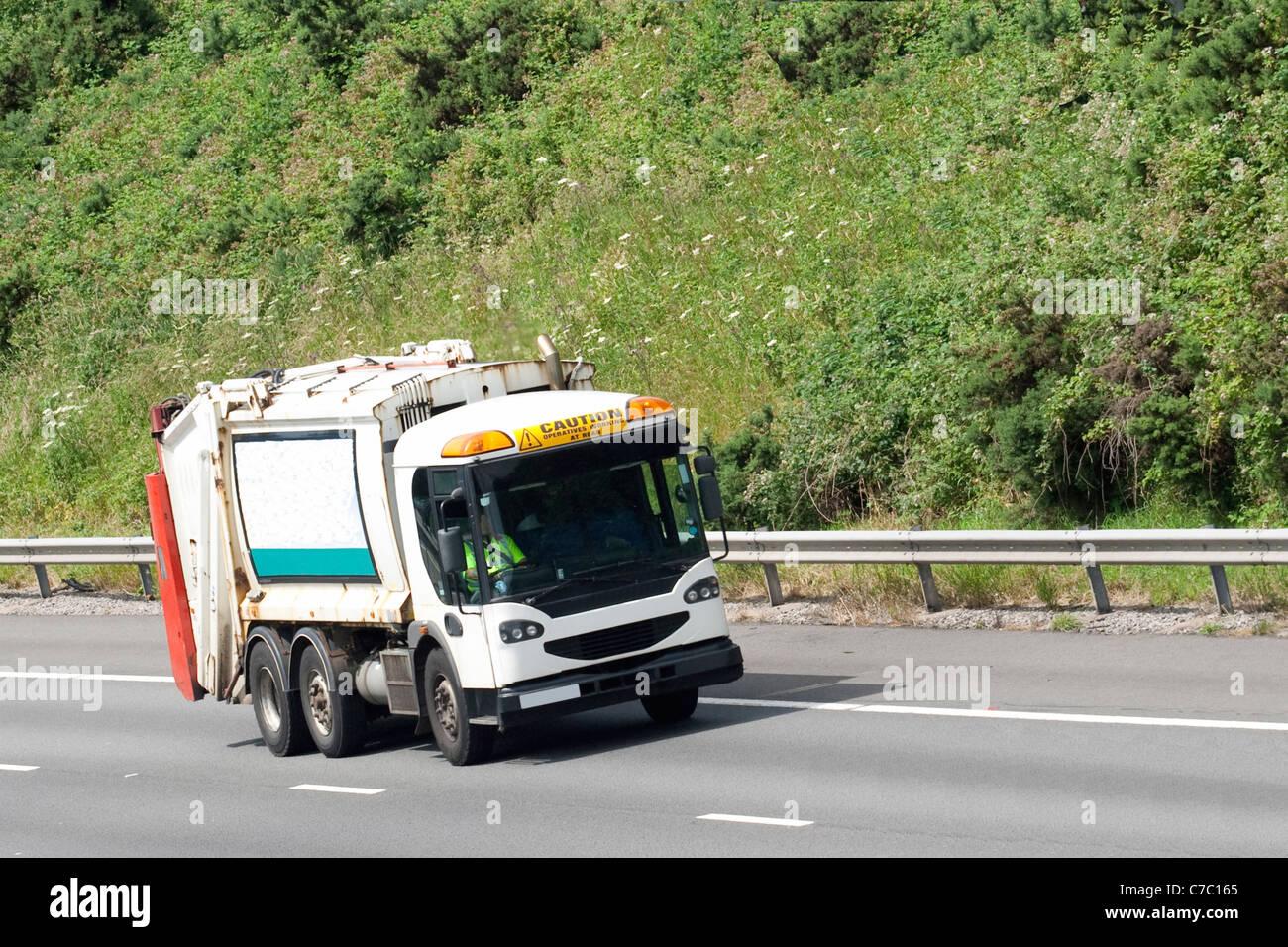 Tanker lorry or truck on road or motorway - Stock Image