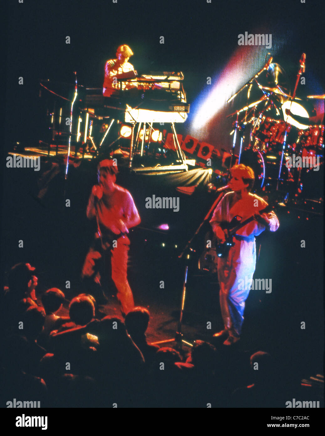 SIMPLE MINDS UK pop group in 1984 - Stock Image