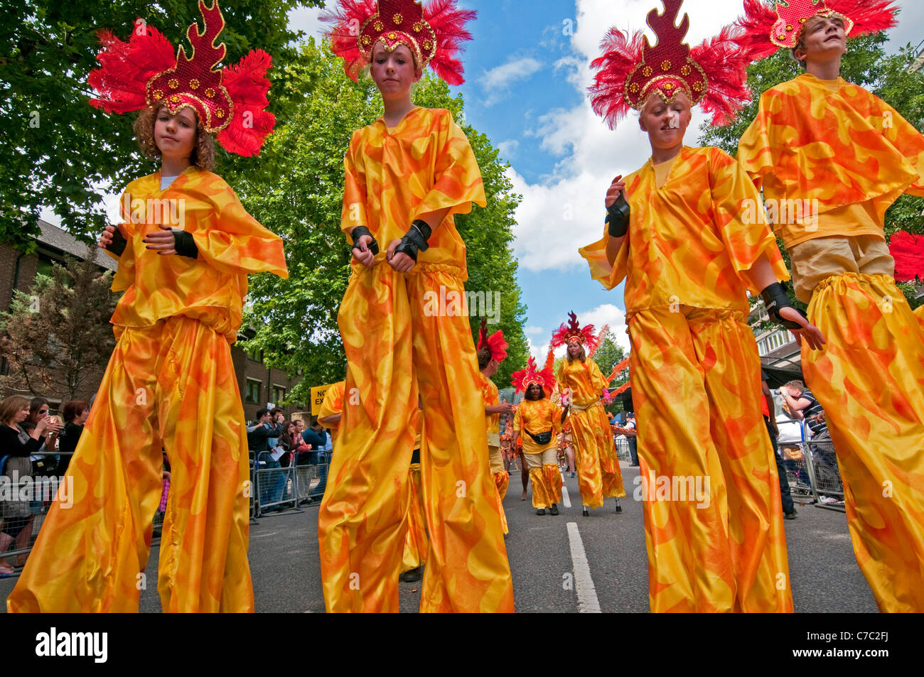 Notting Hill annual West Indian Carnival in London  2011 - Stock Image