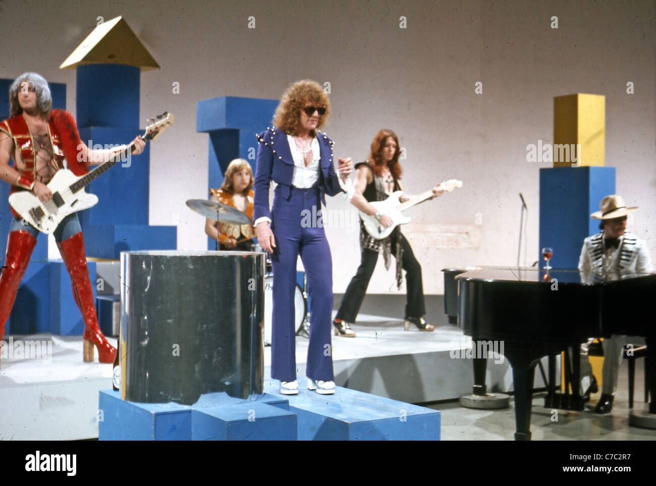MOTT THE HOOPLE in 1972 from left: Peter Overend Watts, Dale Griffin, Ian Hunter, Ariel bender, Morgan Fisher - Stock Image