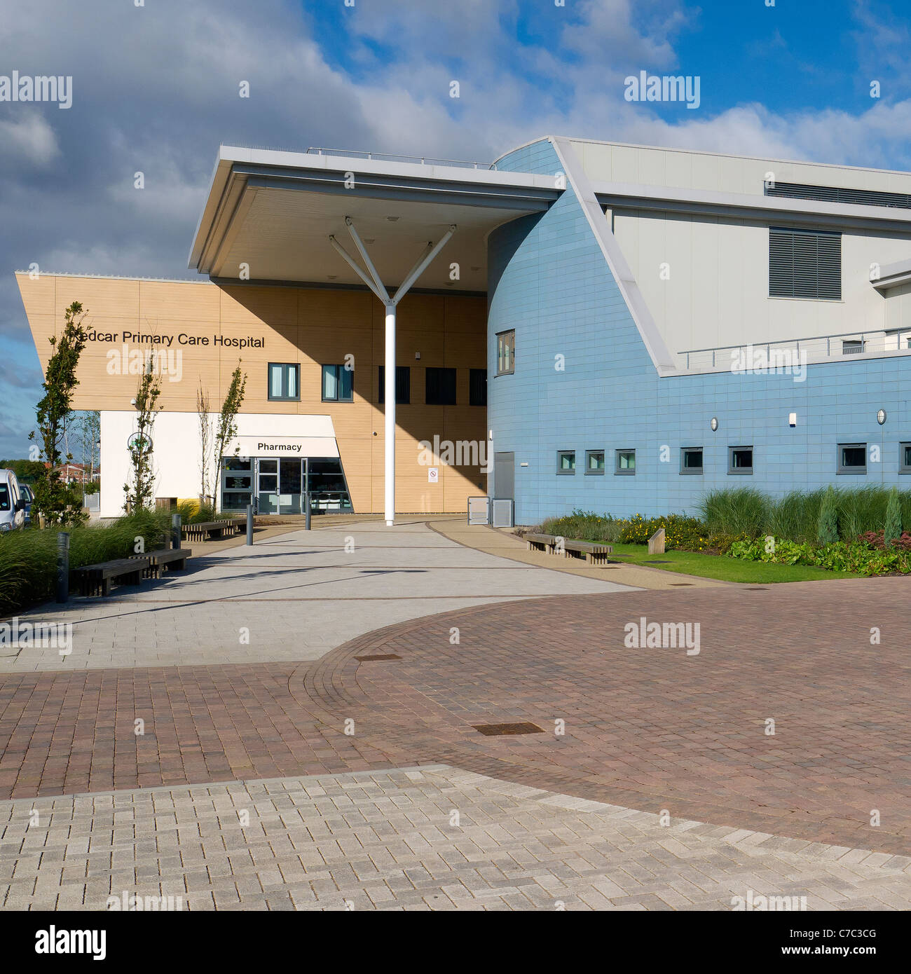 Newly built small primary care hospital Redcar Cleveland - Stock Image
