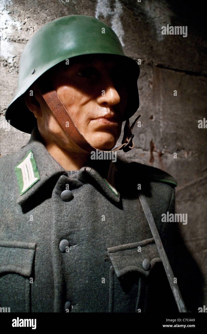 Nazi Waxwork Display - Stock Image