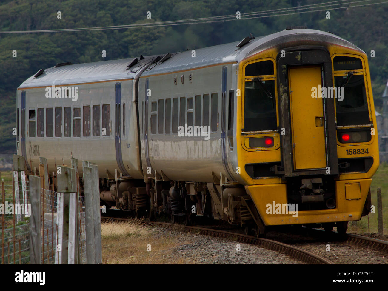 A multiple unit on a rural branch line. - Stock Image