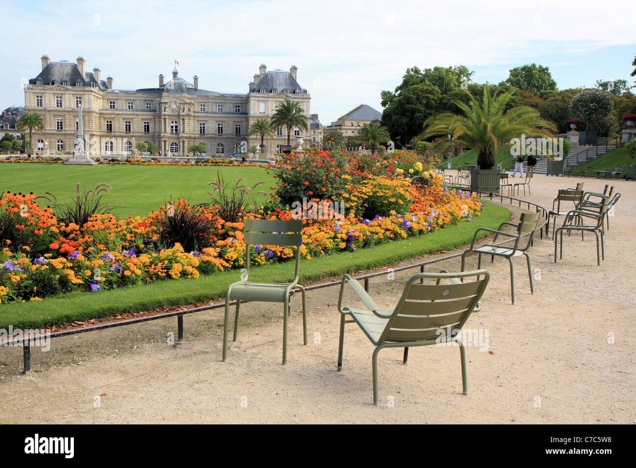 Luxembourg gardens, Paris, France - Stock Image