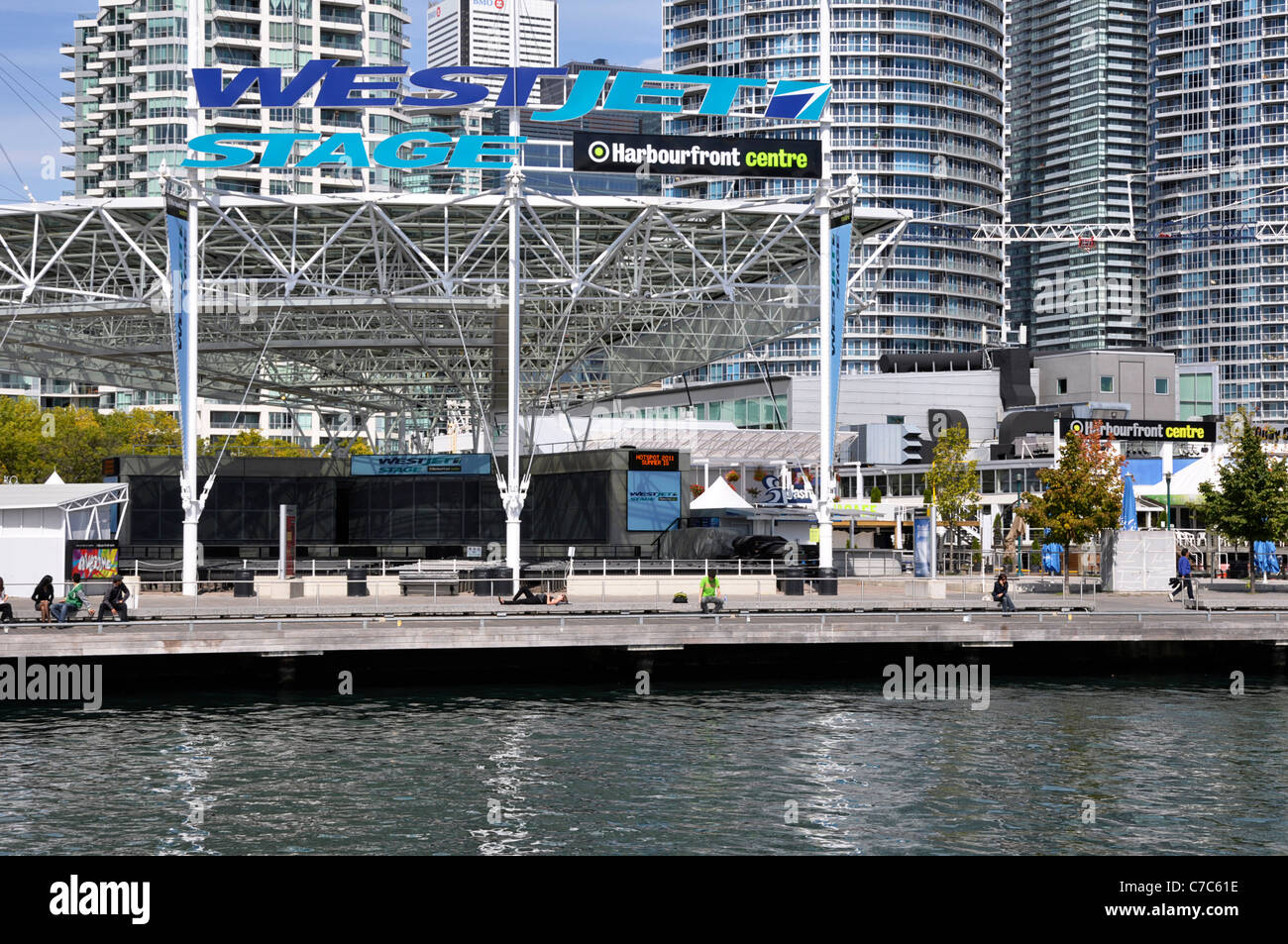 Toronto Harbourfront Centre, Stage, Queens Quay - Stock Image