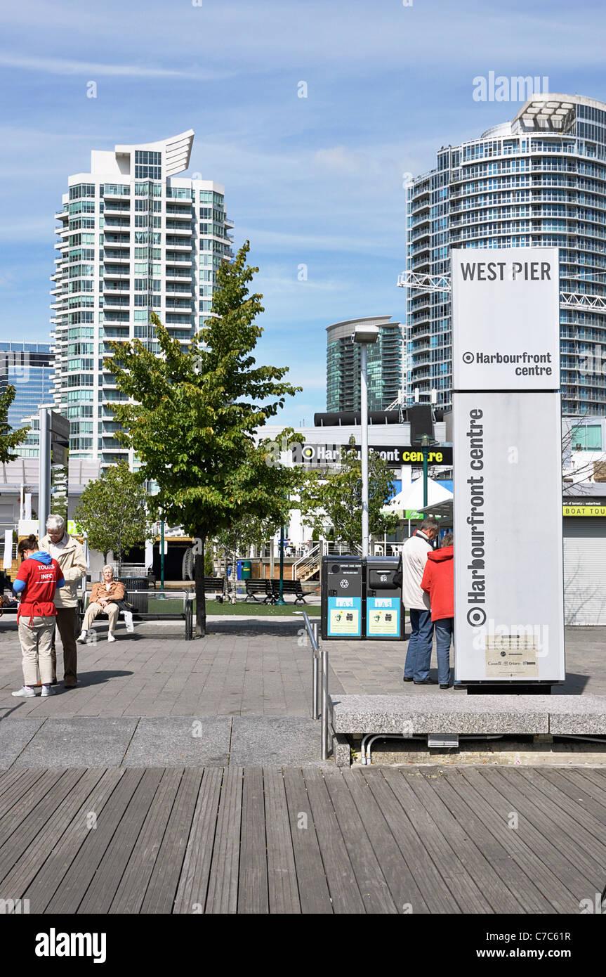 Toronto Harbourfront West Pier, Queens Quay - Stock Image