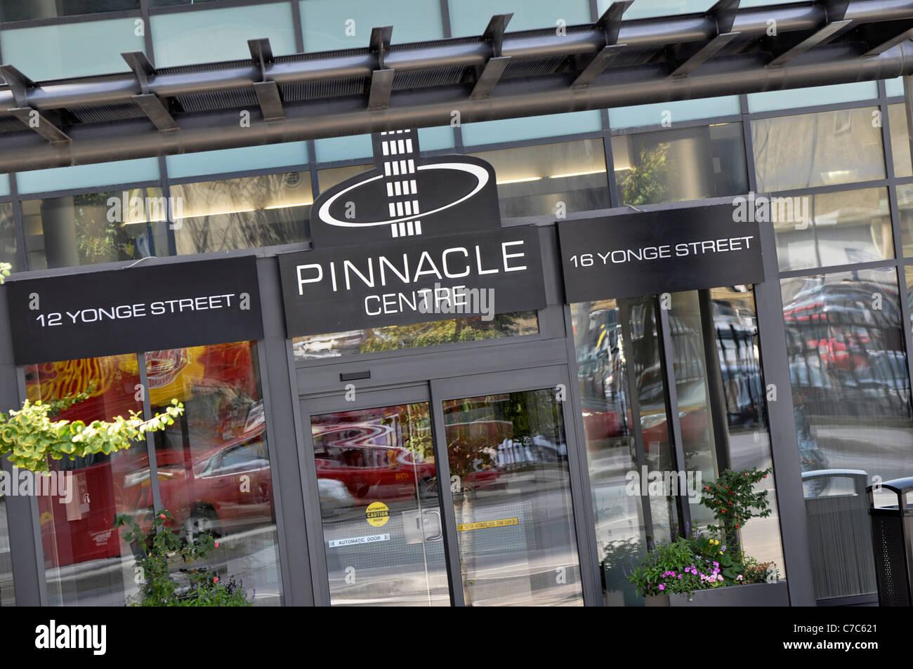 Pinnacle Centre, on Yonge Street, Downtown Toronto - Stock Image