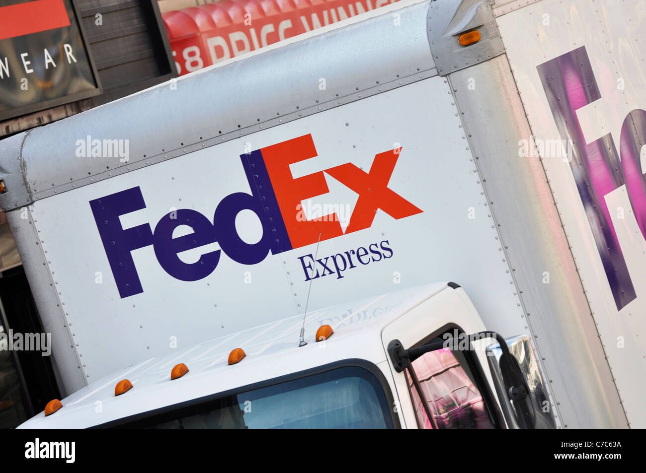 FedEx, Federal Express Van - Stock Image