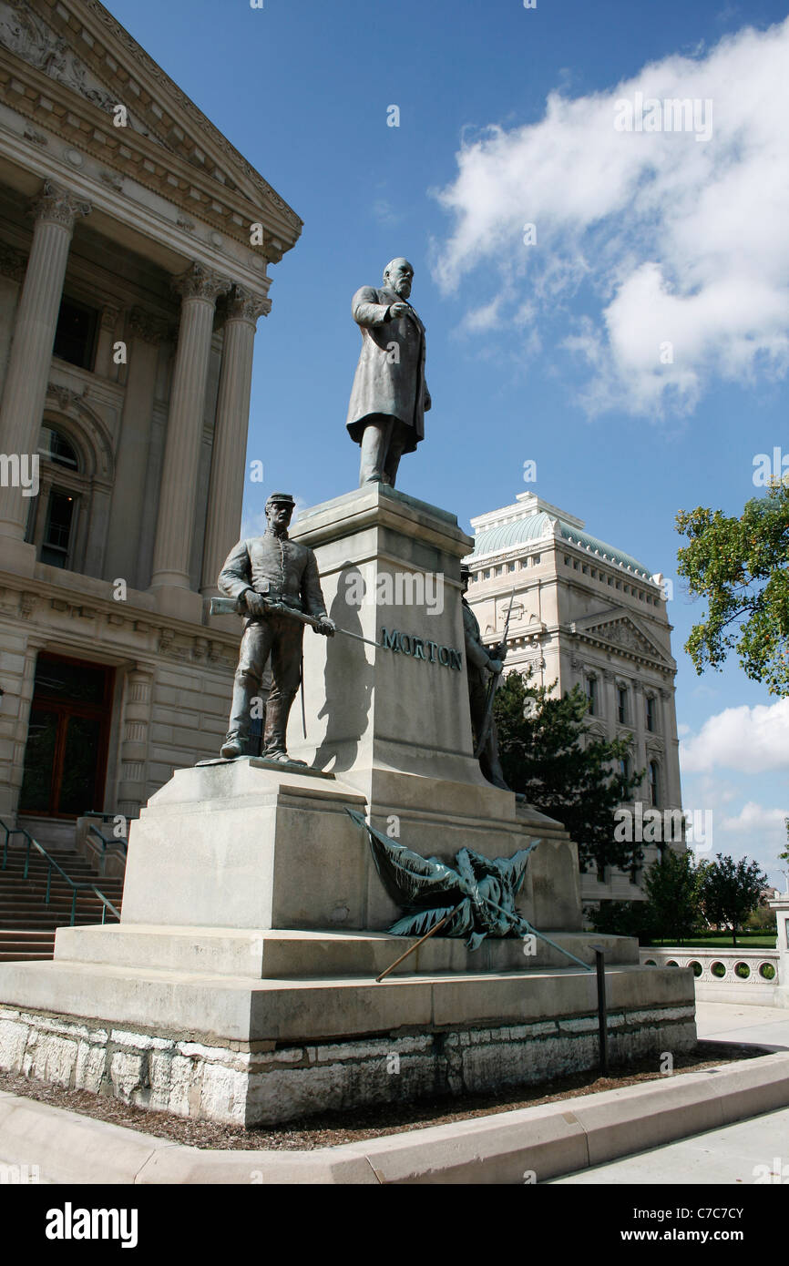 Memorial at the Indiana Statehouse (created by Austrian artist Rudolf Schwarz) - Stock Image