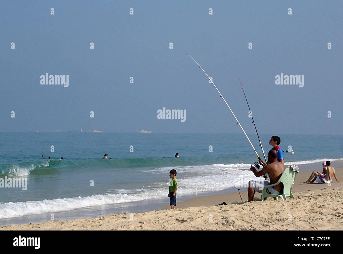 Israel - Nitzanim Beach Stock Photo
