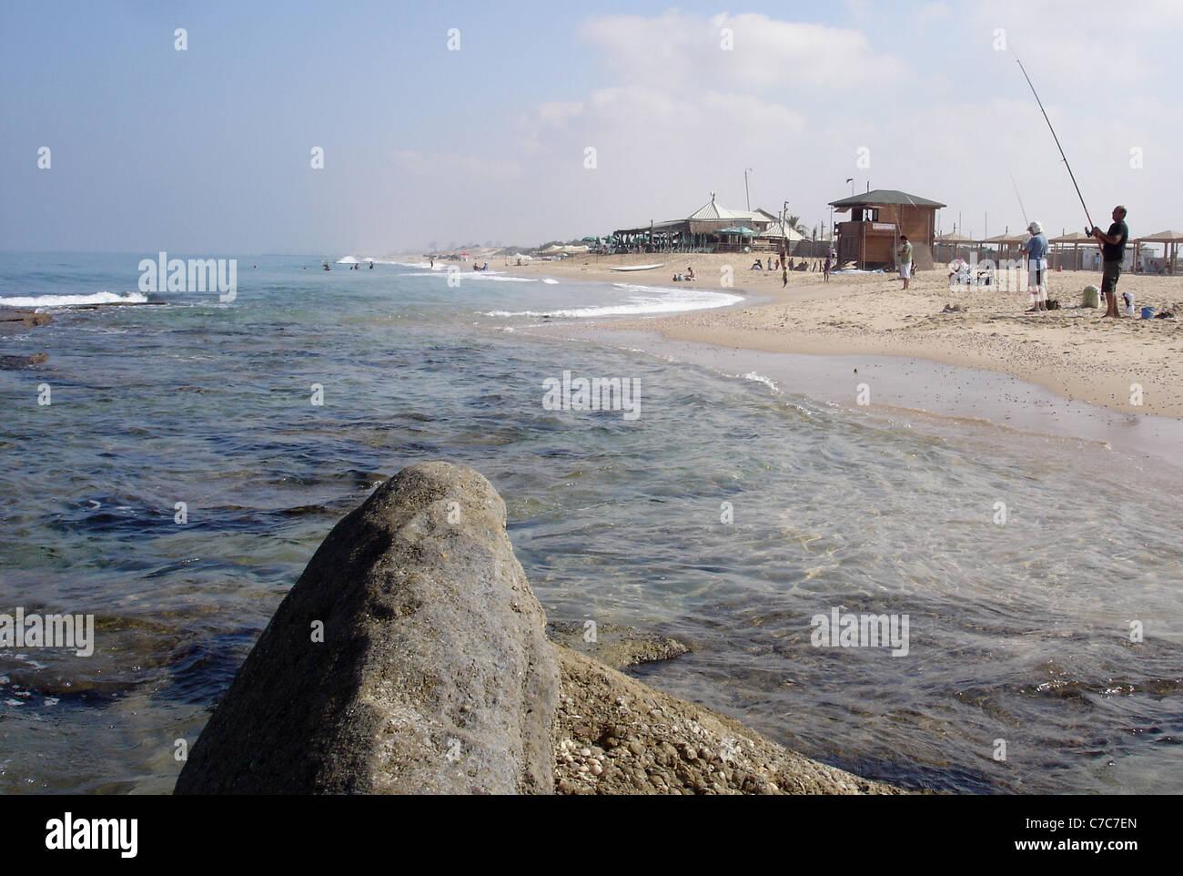 Nitzanim Beach Israel Stock Photo