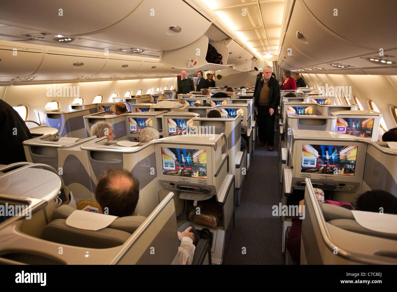 UK, Air Travel, Business Class passengers boarding upper ... | 1300 x 956 jpeg 175kB