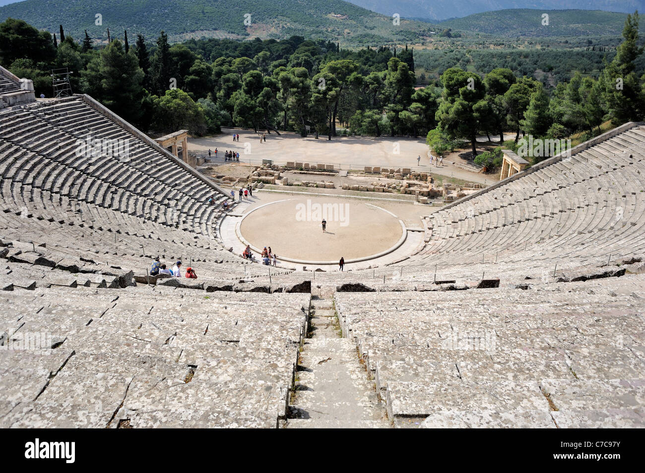 Epidaurus Peloponnese Greece theatre - Stock Image