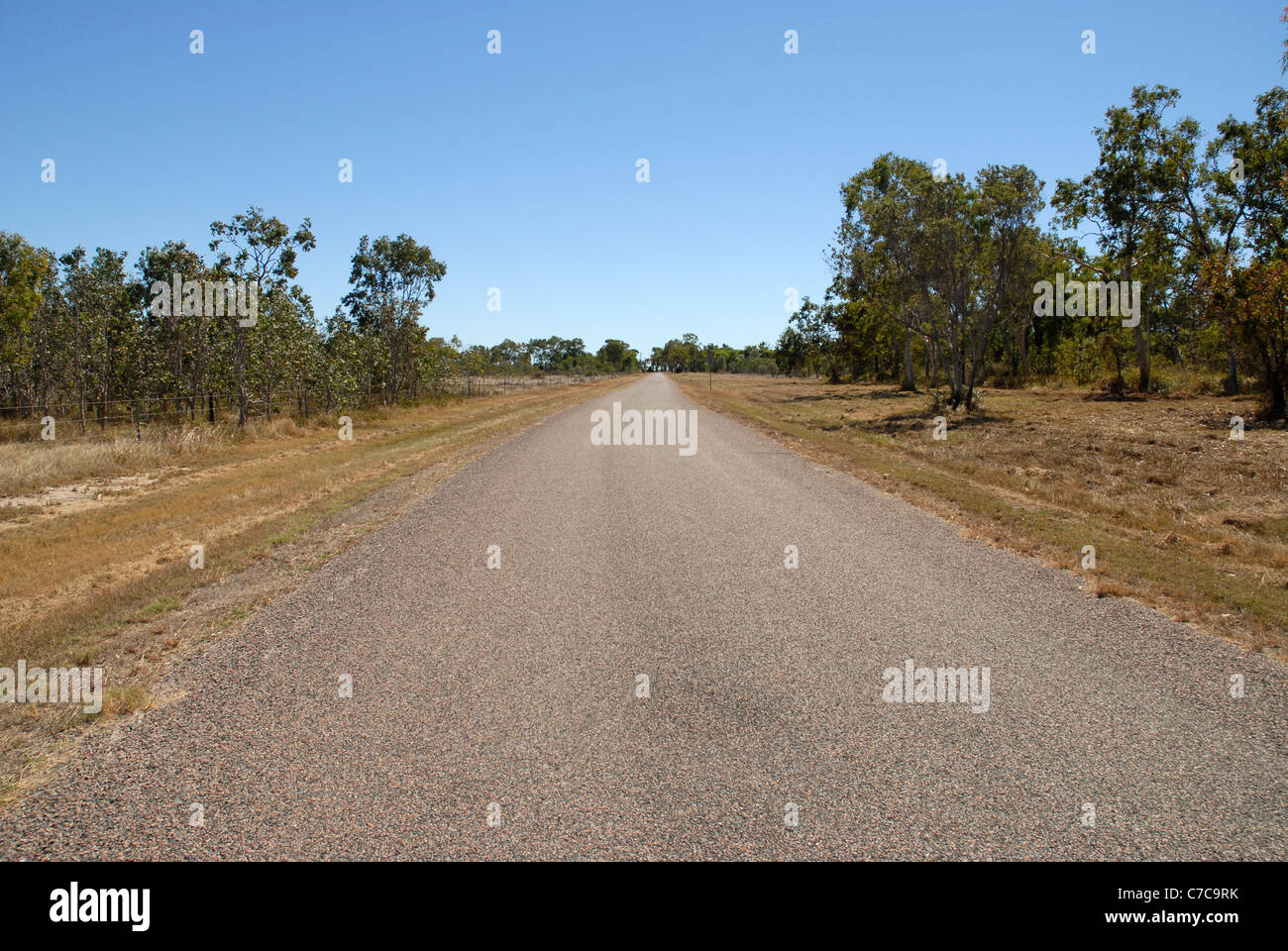 paved road in the Cape Cleveland area, Queensland, Australia - Stock Image