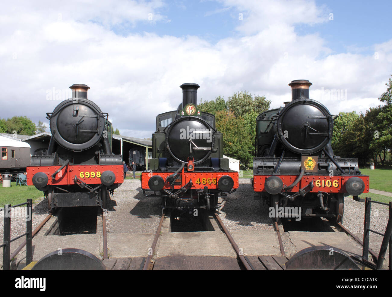 Steam locomotives at Didcot Railway Centre September 2011 - Stock Image