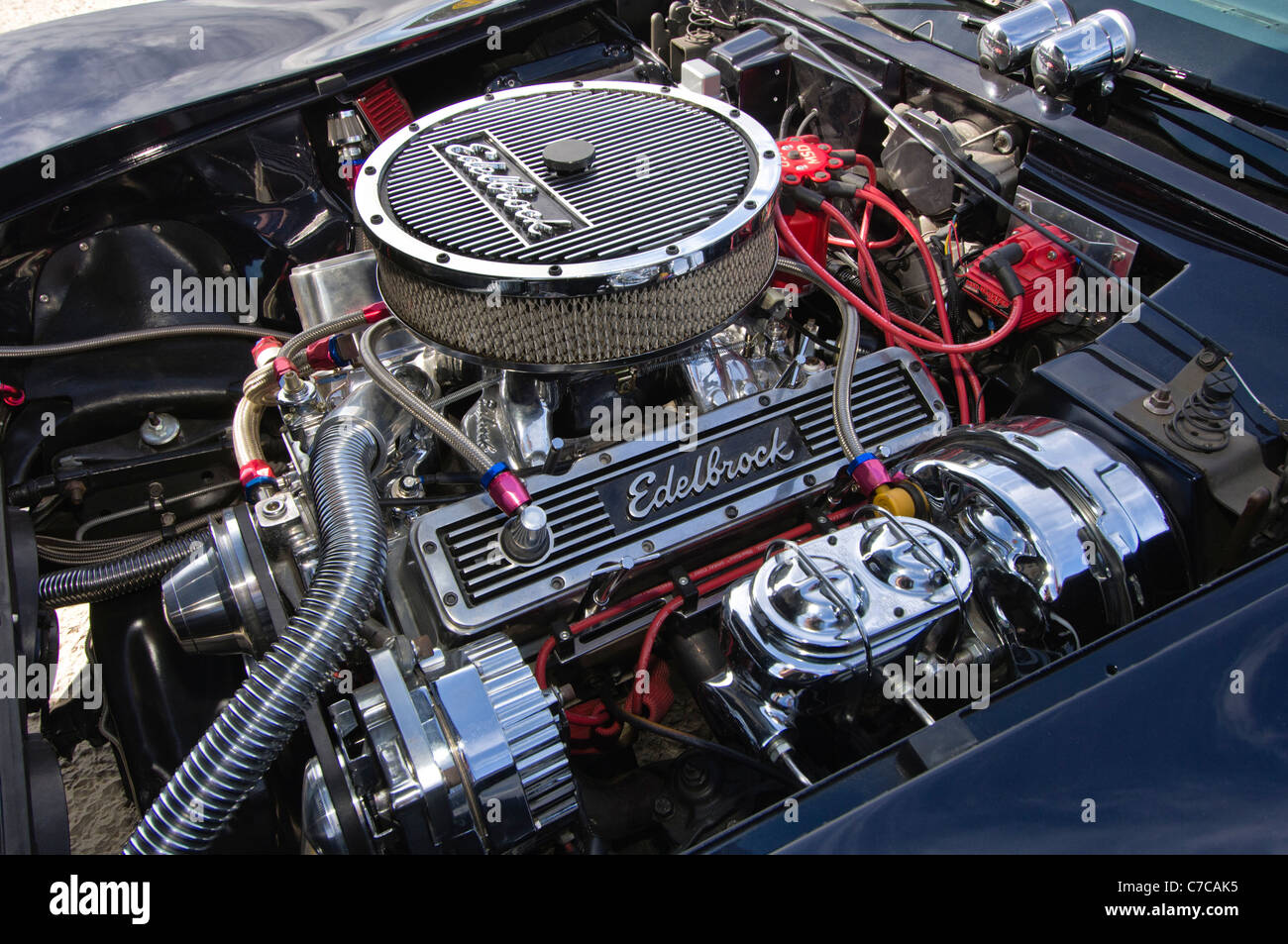 corvette engine stock photos corvette engine stock images alamy. Black Bedroom Furniture Sets. Home Design Ideas