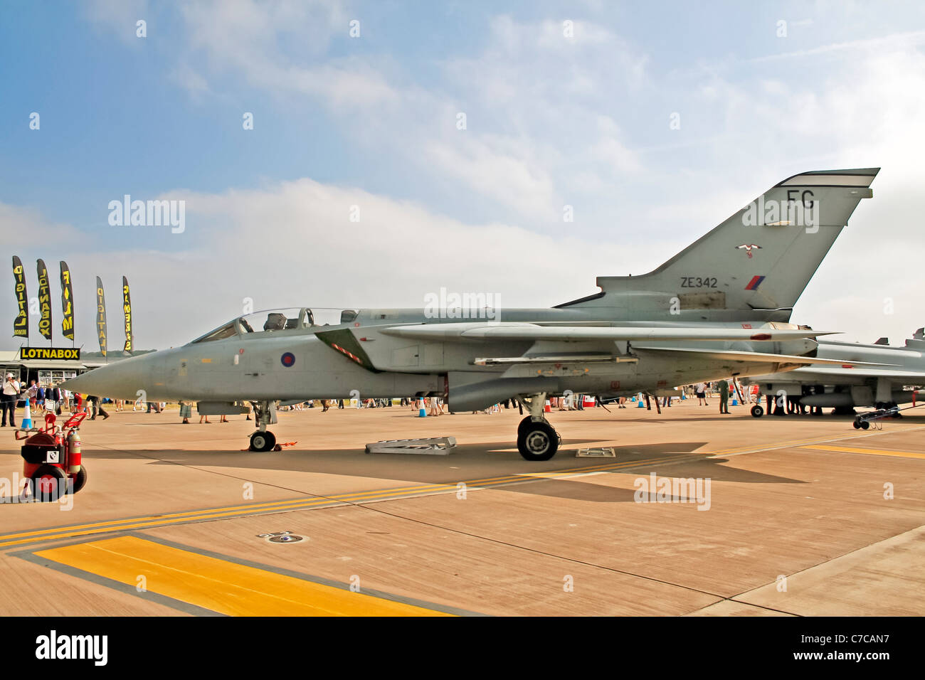 RAF Panavia Tornado IDS ZA552 on display Royal International Air Tattoo - Stock Image