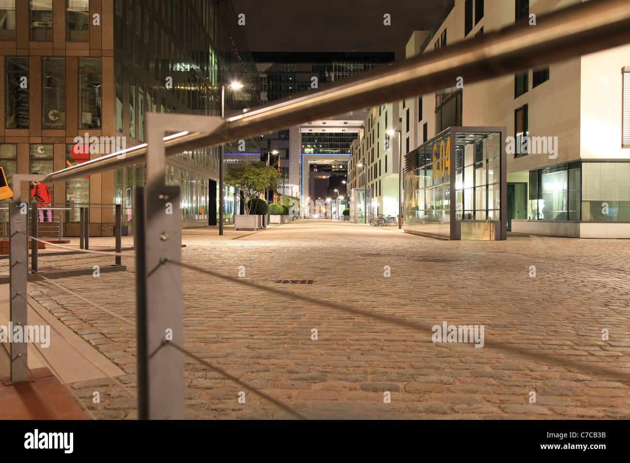 Colgone Rheinauhafen at night,  Köln Rheinauhafen bei Nacht - Stock Image