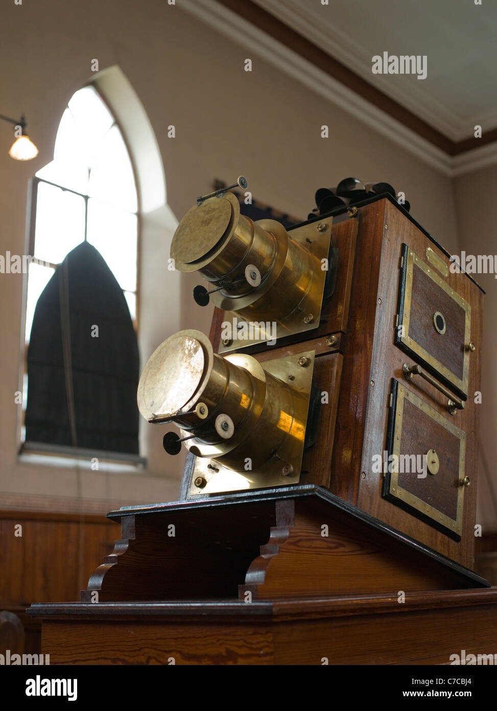 Opaque projector, epidioscope, Methodist Chapel, Pit Village, Beamish - Stock Image