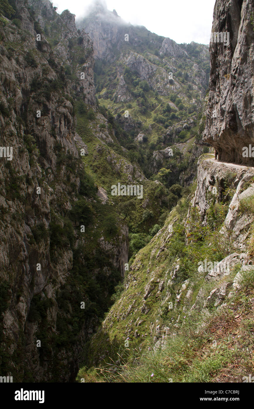 The Cares gorge in the Picos de Europa, Spain - Stock Image