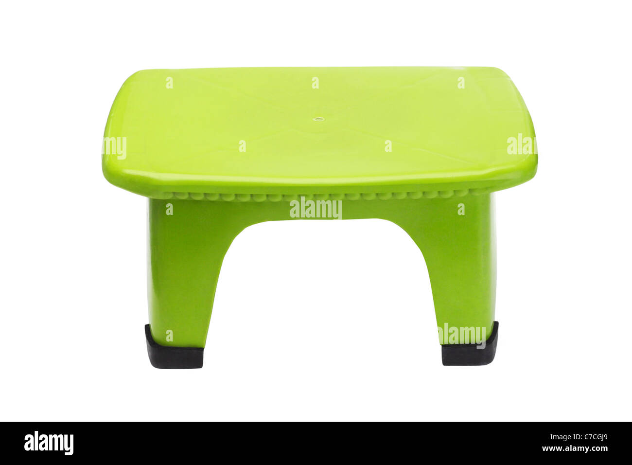 Fantastic Small Green Plastic Stool On Isolated White Background Stock Squirreltailoven Fun Painted Chair Ideas Images Squirreltailovenorg