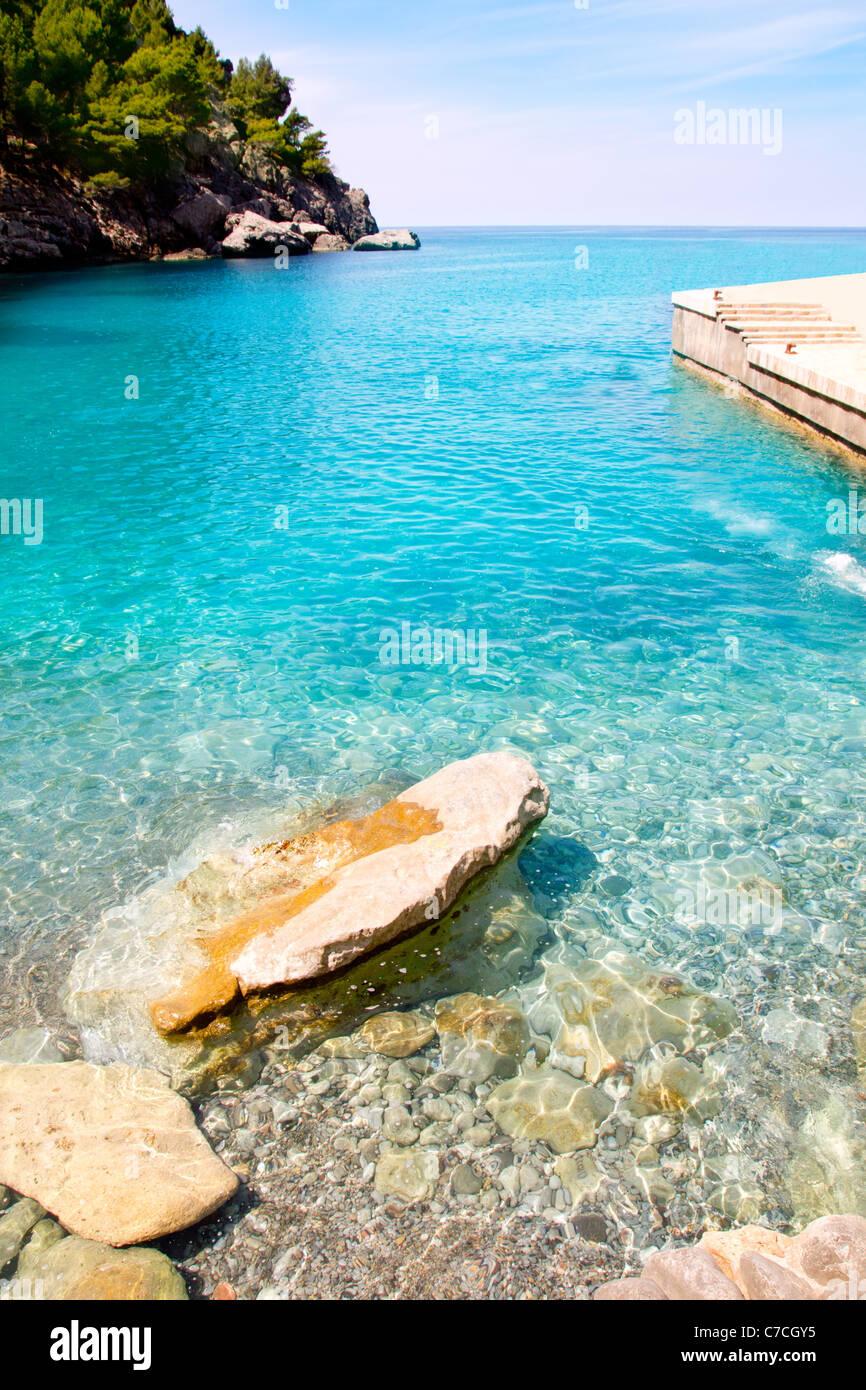 Escorca Sa Calobra beach in Mallorca balearic island from Spain - Stock Image