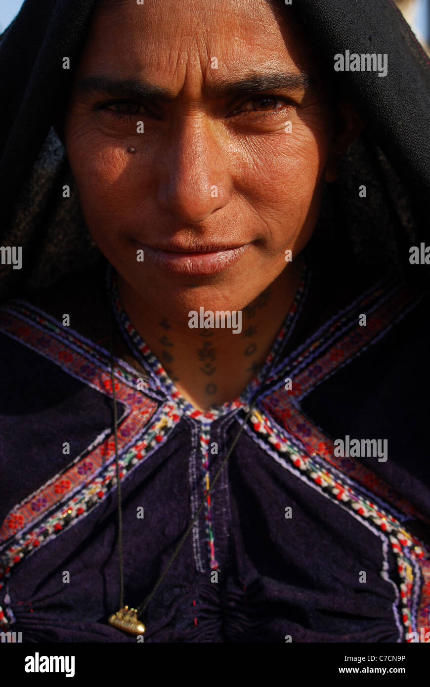 Portrait of a Rabari woman ( India) - Stock Image