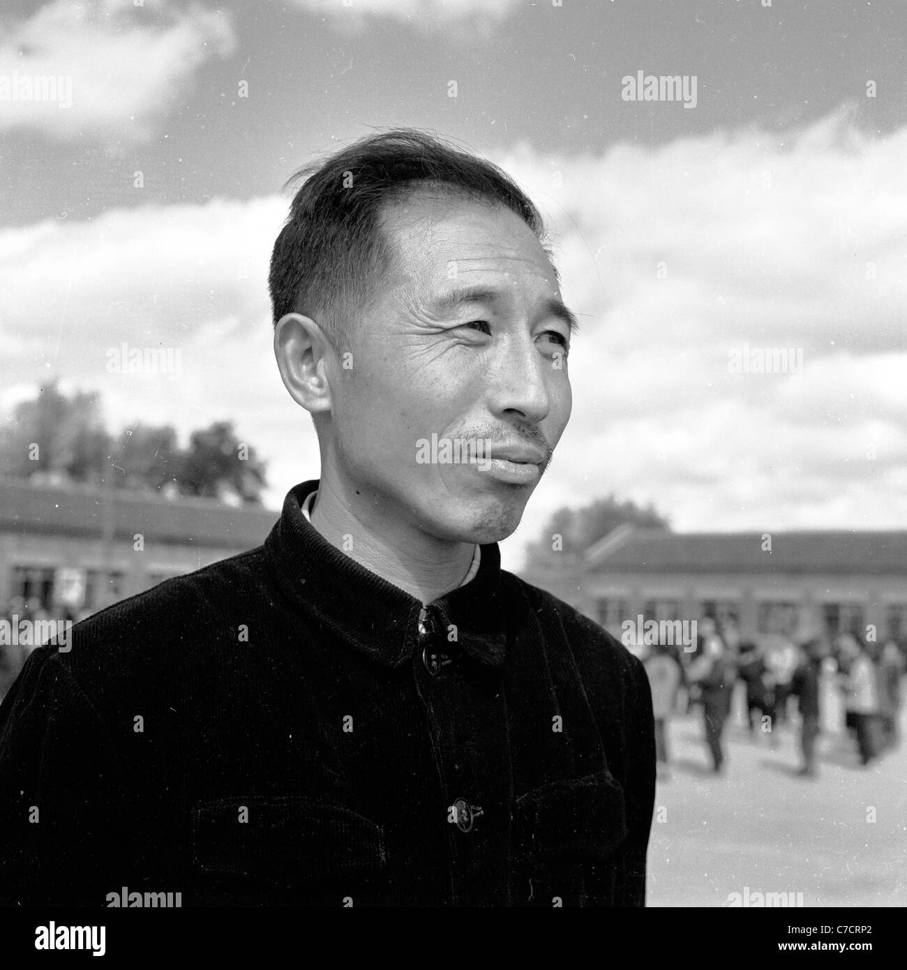 Asia.  1950s. Historical picture of a worker, China. - Stock Image