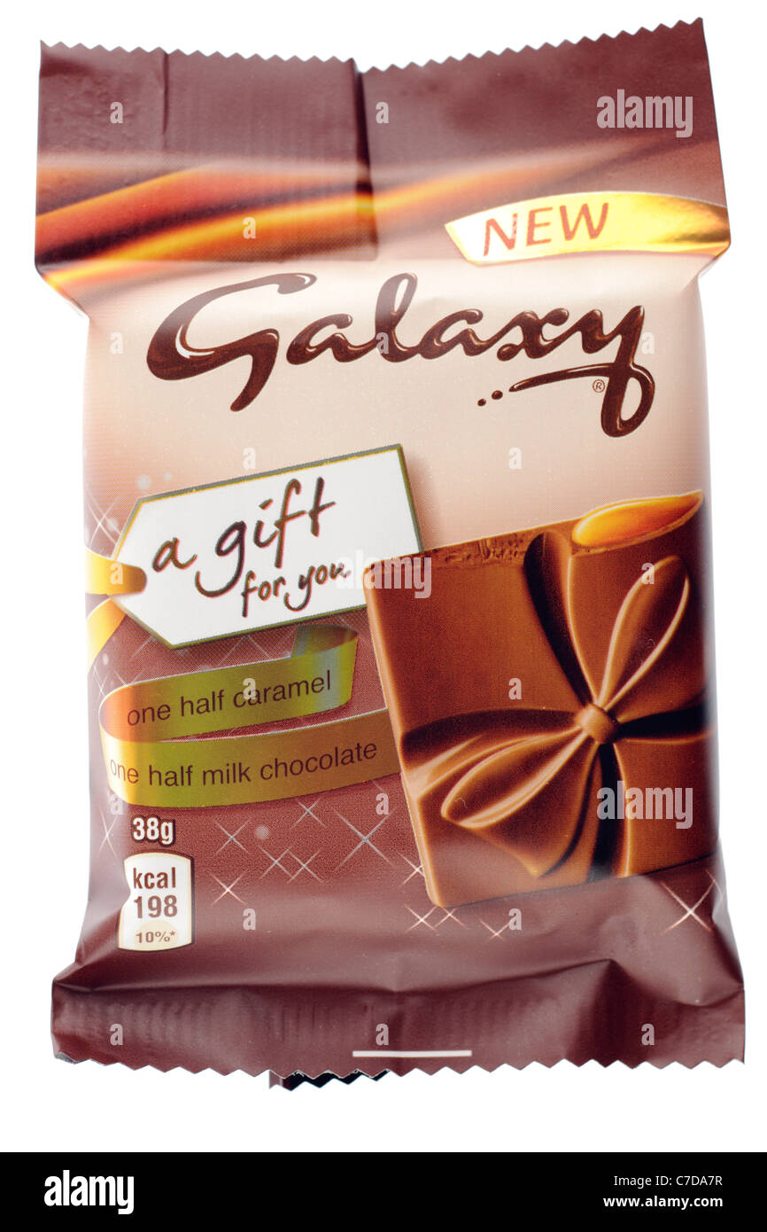 Small new 38 gram bar of Galaxy a gift for you chocolate - Stock Image