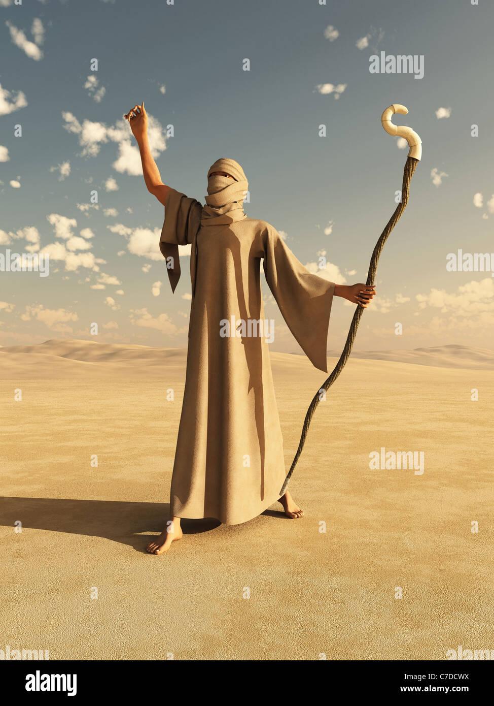 Desert Sorcerer - Stock Image