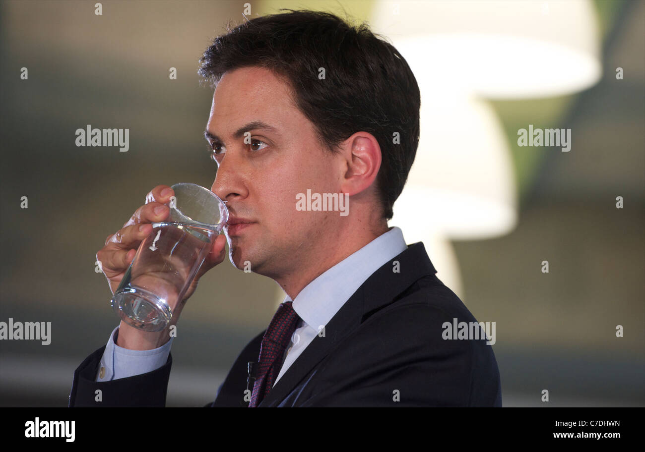 Edward Samuel Miliband British Labour Party politician, currently the Leader of the Labour Party and Leader of the - Stock Image
