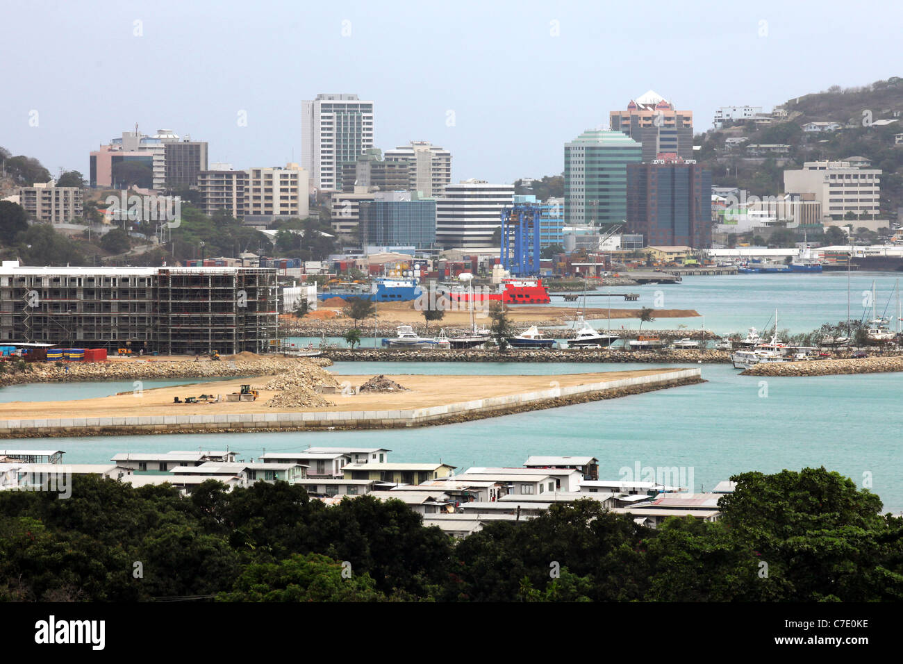 Port Moresby, Capitol of Papua New Guinea - Stock Image