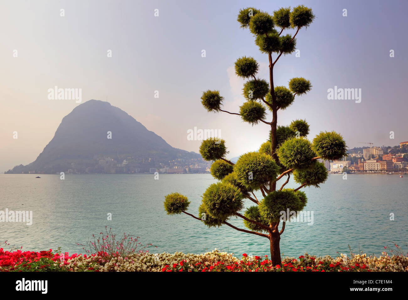 View of Monte Salvatore Parco Civico seen - Stock Image