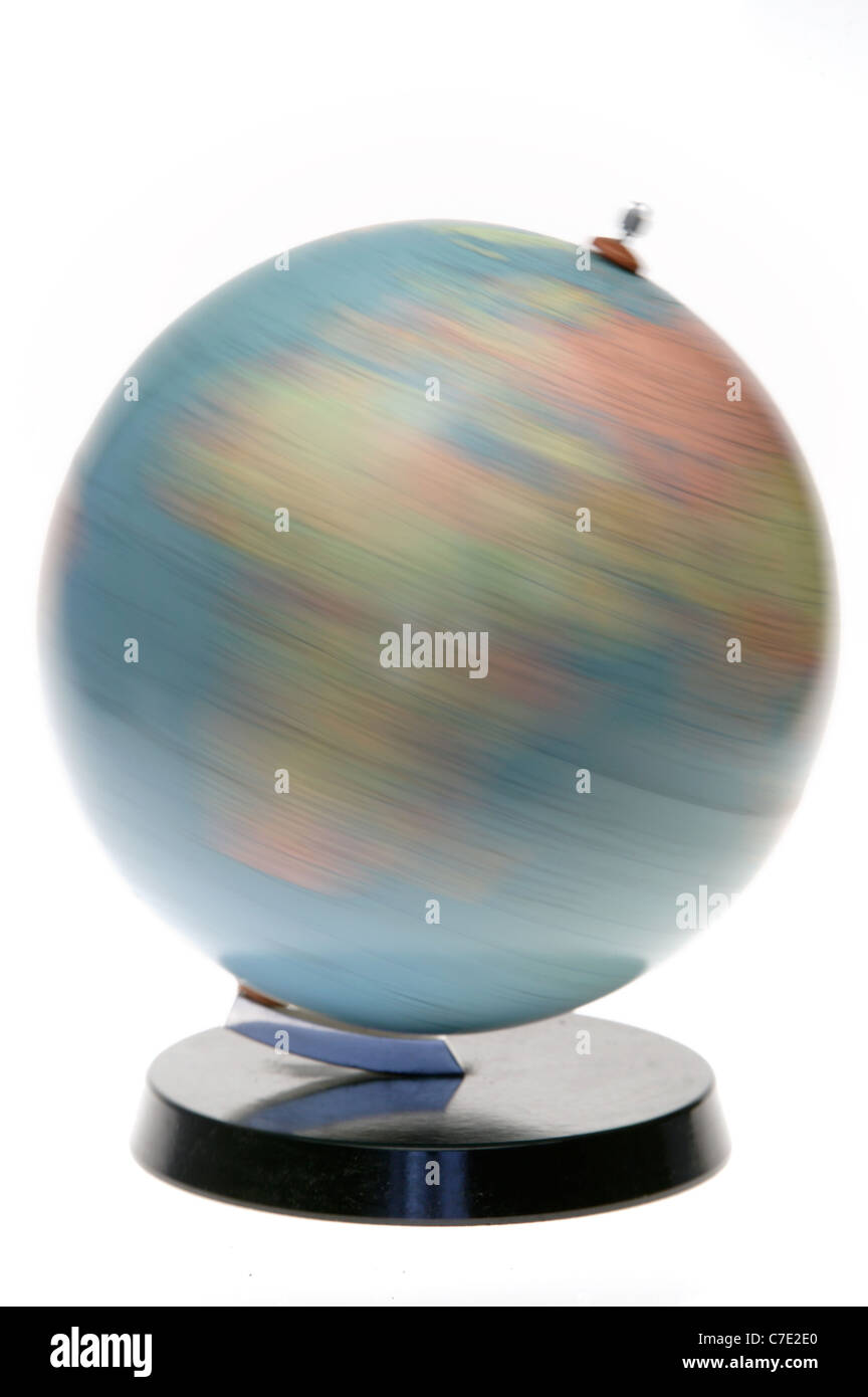 A rotating globe - Stock Image