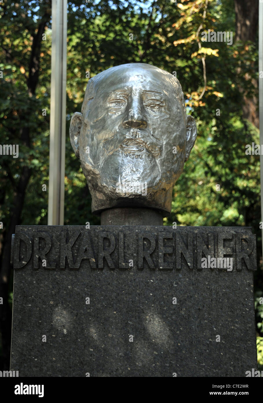 Dr Karl Renner statue. He is called the Father of the Republic because he headed the first government in republican - Stock Image