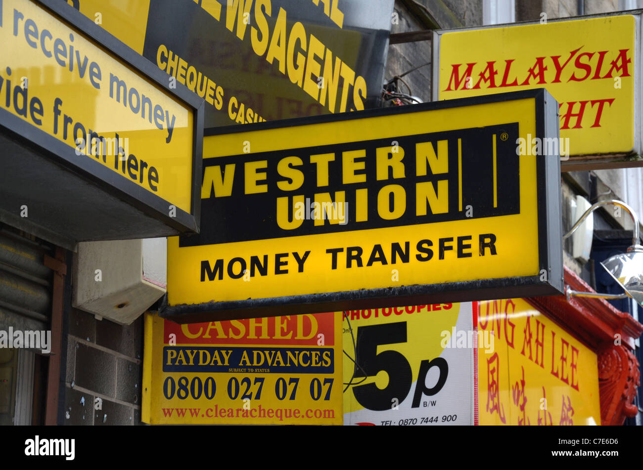 Western Union Money Transfer High Resolution Stock Photography And Images Alamy