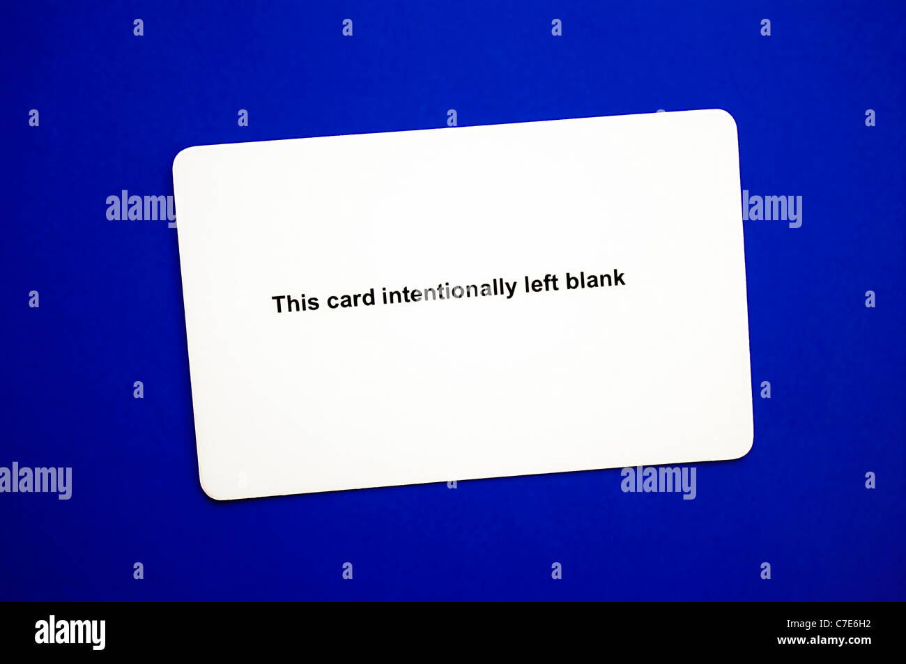 Credit card statement stock photos credit card statement stock blank white plastic business credit or id card with ironic statement this card reheart Images