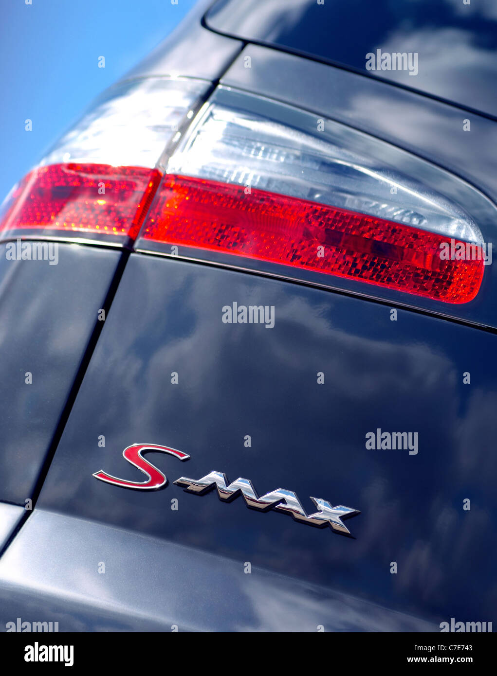 Ford S-max 2.5T rear light cluster - Stock Image