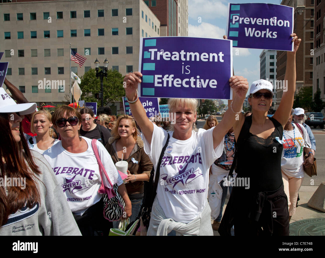 Celebration of Recovery from Alcohol or Drug Addiction - Stock Image